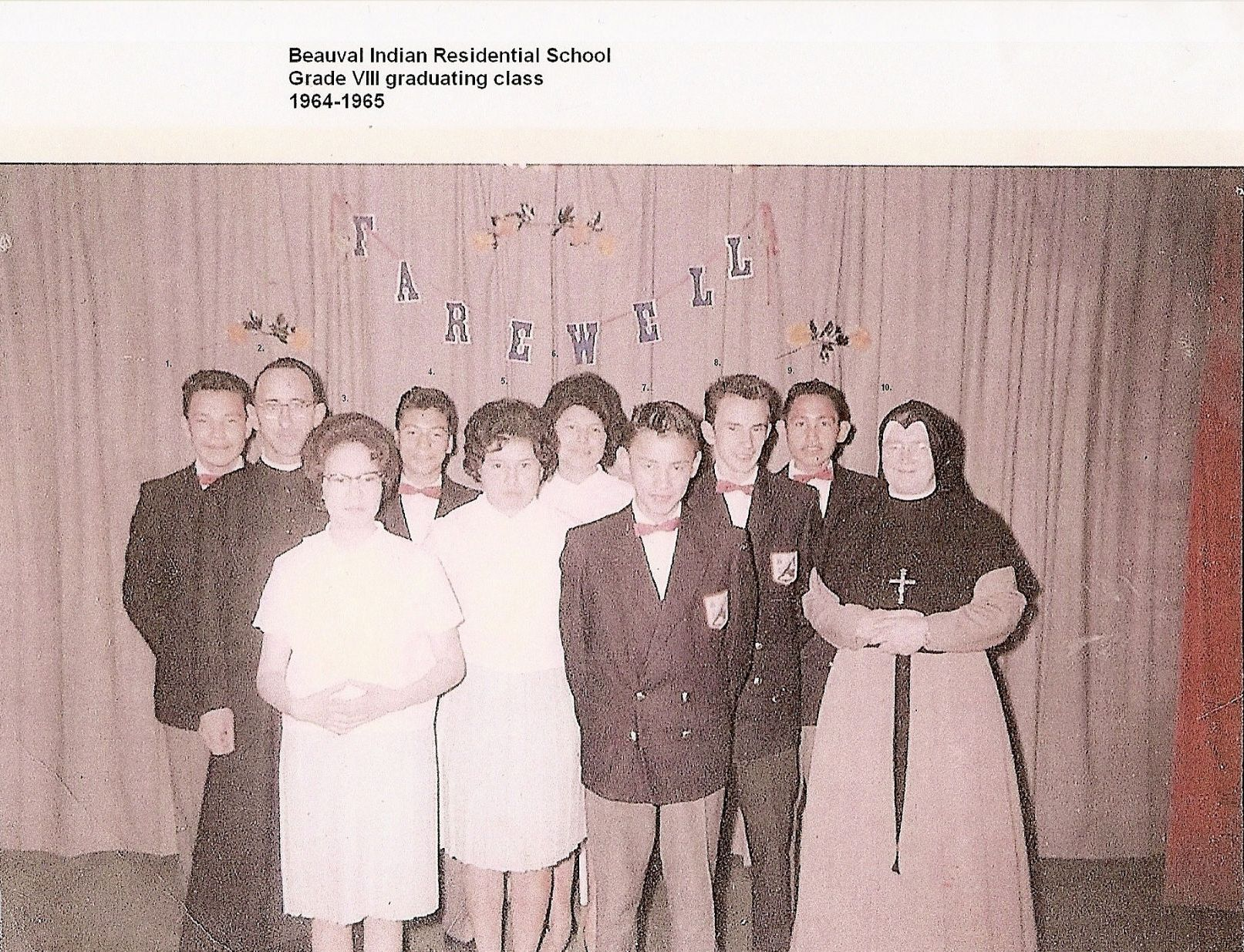 Beauval Indian Residential School class 1964 to 65