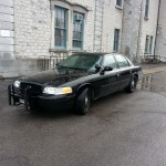 OPP cruiser waiting at Frontenac Courthouse