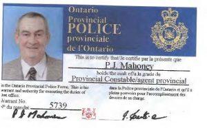 Maloney Mahoney Patrick Mahoney OPP card